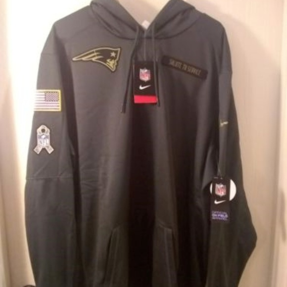 outlet store fe27d 7e707 Nike New England Patriots salute to service hoodie